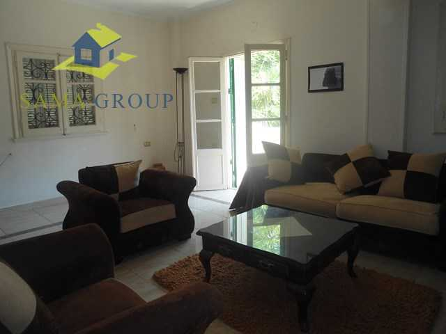 Furnished Ground Floor With Garden In a Villa For Rent In Maadi