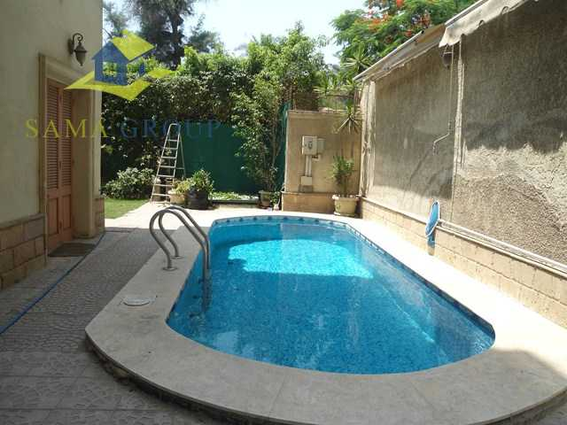Modern Furnished ground Floor Duplex Apartment With Pool For Rent In Maadi