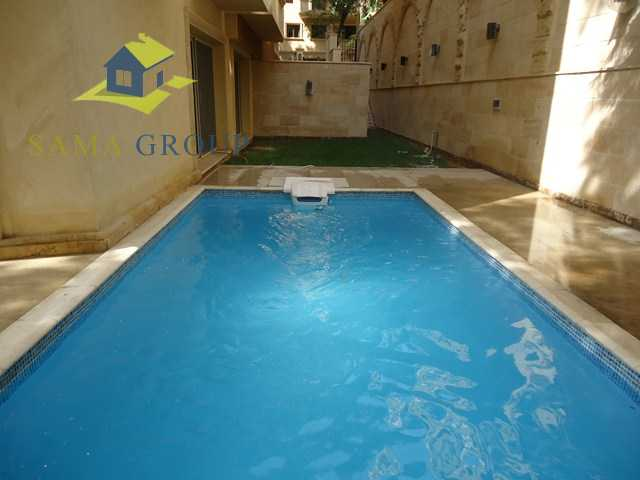 Great Ground Floor Duplex With Private Pool For rent In Maadi
