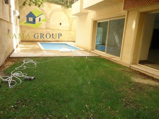 Ground Floor Duplex With Private Pool For rent In Maadi,Semi furnished,Ground Floor duplex NO #11