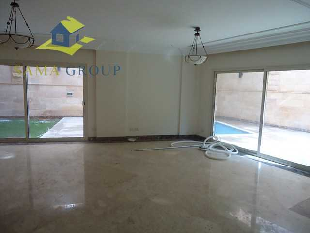 Ground Floor Duplex With Private Pool For rent In Maadi,Semi furnished,Ground Floor duplex NO #2