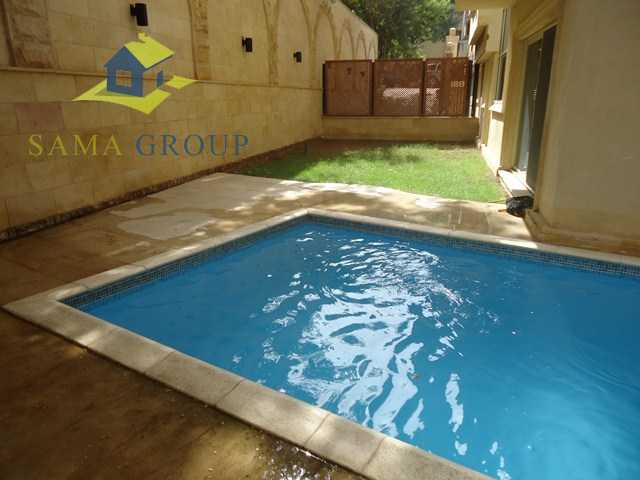 Ground Floor Duplex With Private Pool For rent In Maadi,Semi furnished,Ground Floor duplex NO #13
