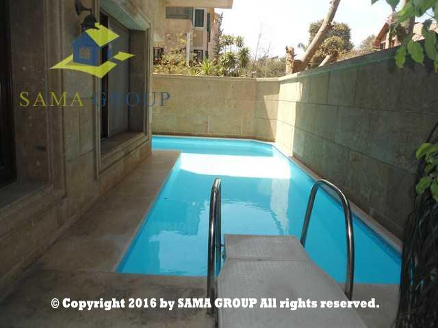 Modern Semi Furnished  Ground Floor Duplex With Pool For Rent In Maadi