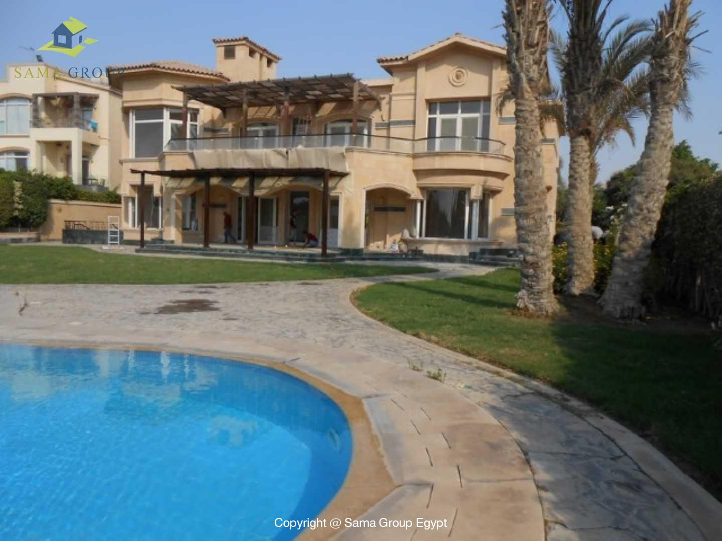Golf View Villa For Rent In Katameya Heights,Semi furnished,Villa NO #19