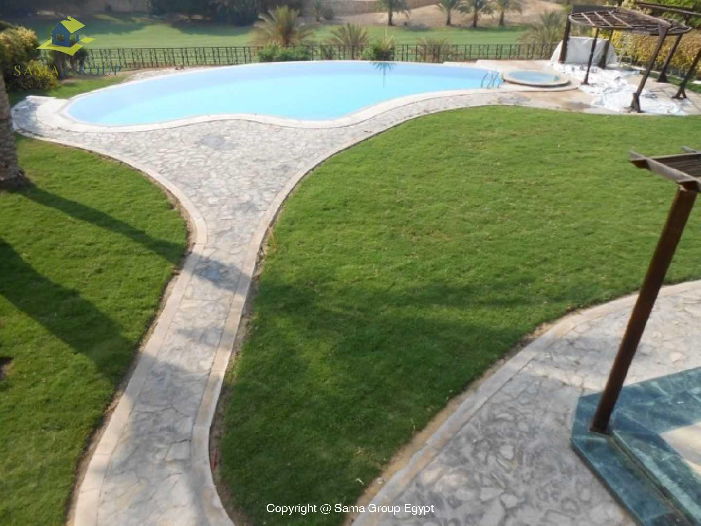 Golf View Villa For Rent In Katameya Heights,Semi furnished,Villa NO #13