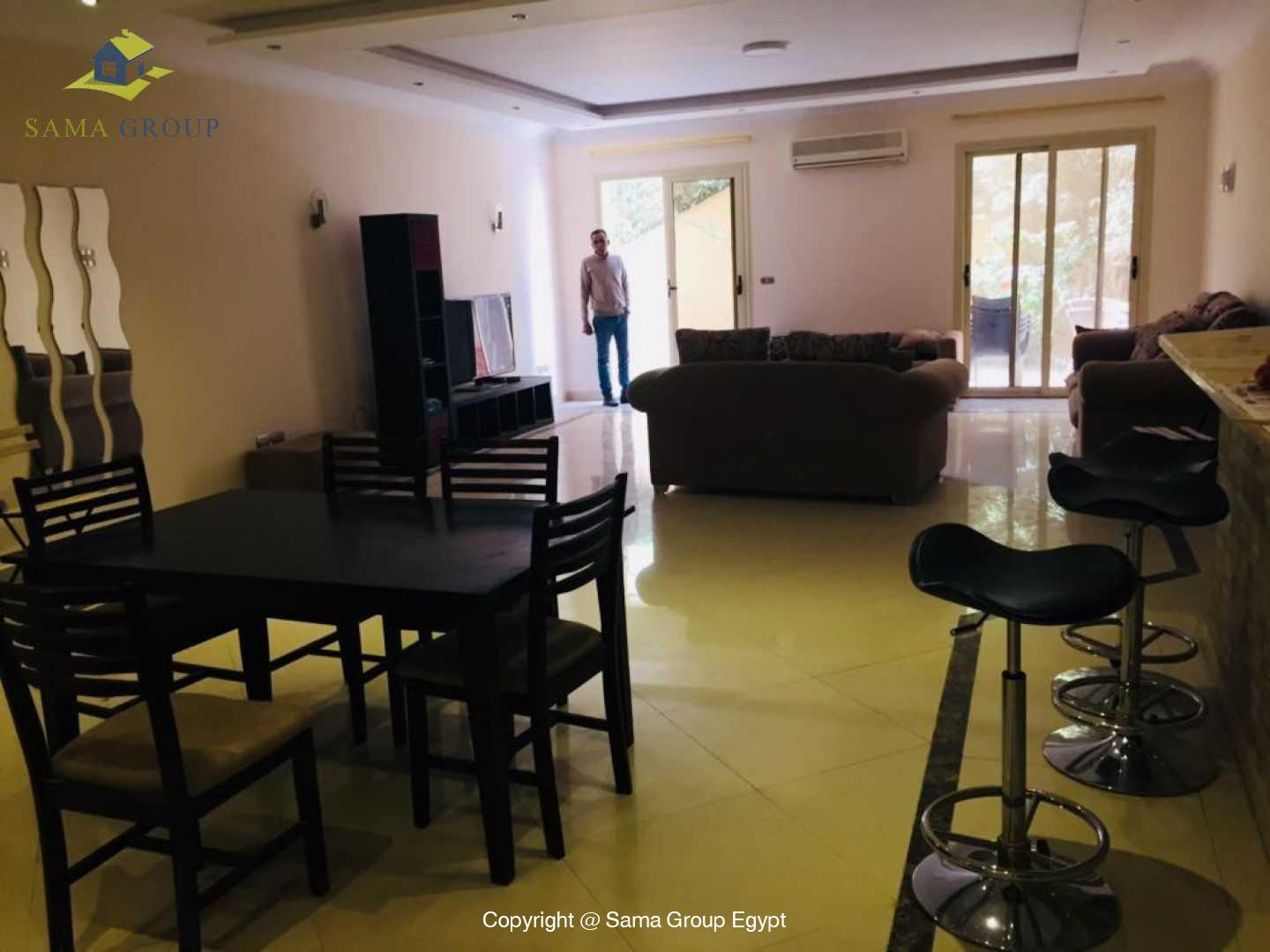 Brand New Ground Floor For Rent In Katameya Heights,Modern Furnished,Ground Floor NO #2