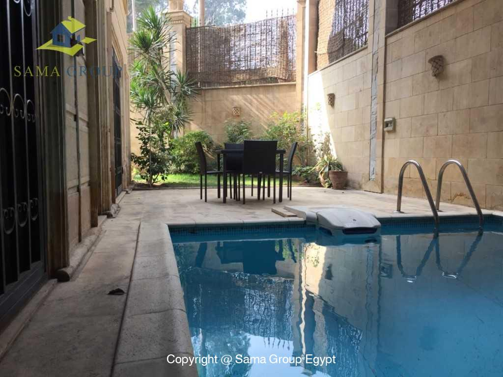 Ground Floor Duplex With Pool For Sale In Maadi,Semi furnished,Ground Floor - duplex NO #1