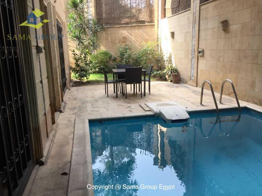 Ground Floor Duplex With Pool For Sale In Maadi,Semi furnished,Ground Floor - duplex NO #24