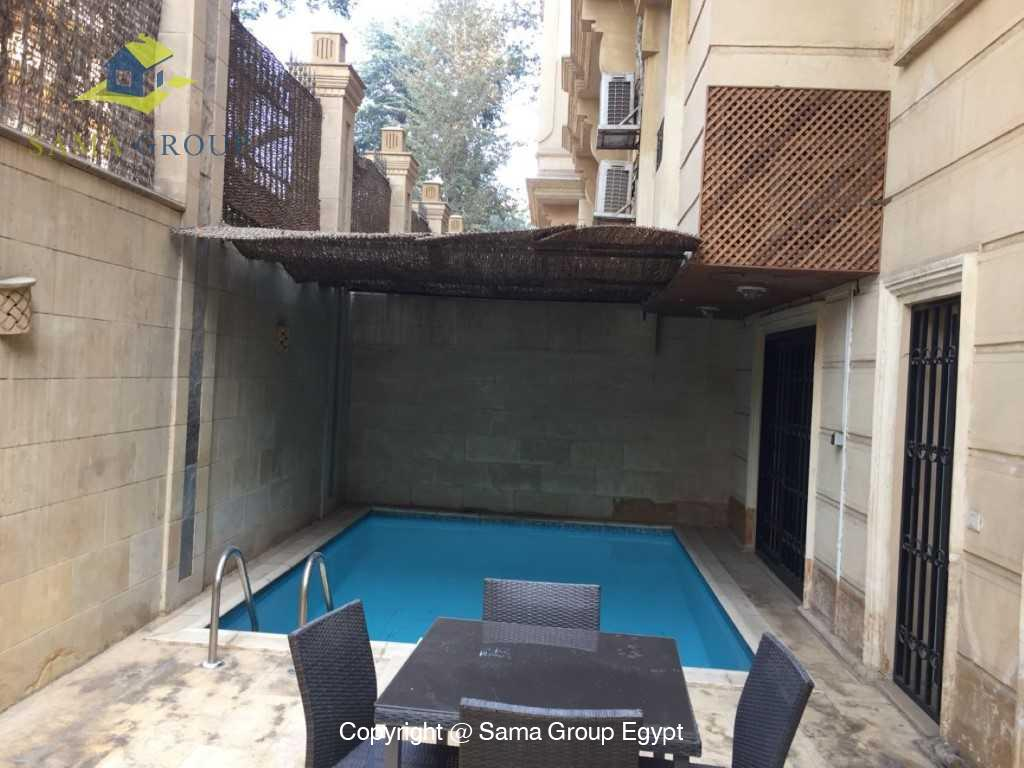 Ground Floor Duplex With Pool For Sale In Maadi,Semi furnished,Ground Floor - duplex NO #2