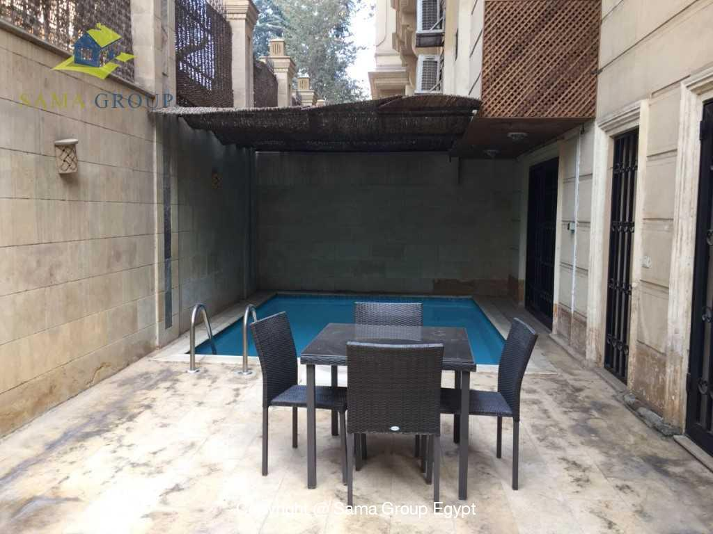 Ground Floor Duplex With Pool For Sale In Maadi,Semi furnished,Ground Floor - duplex NO #14