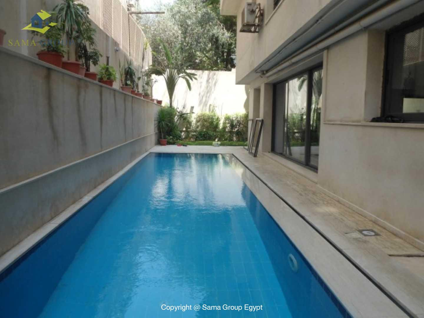 Ground Floor with Swimming Pool For Rent In Maadi,Modern Furnished,Ground Floor NO #11
