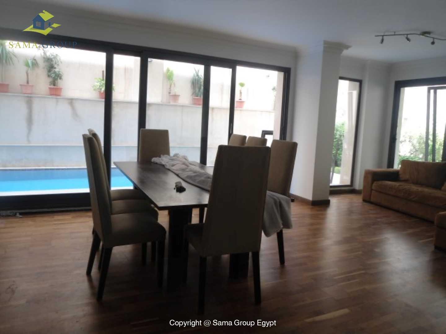 Ground Floor with Swimming Pool For Rent In Maadi,Modern Furnished,Ground Floor NO #5