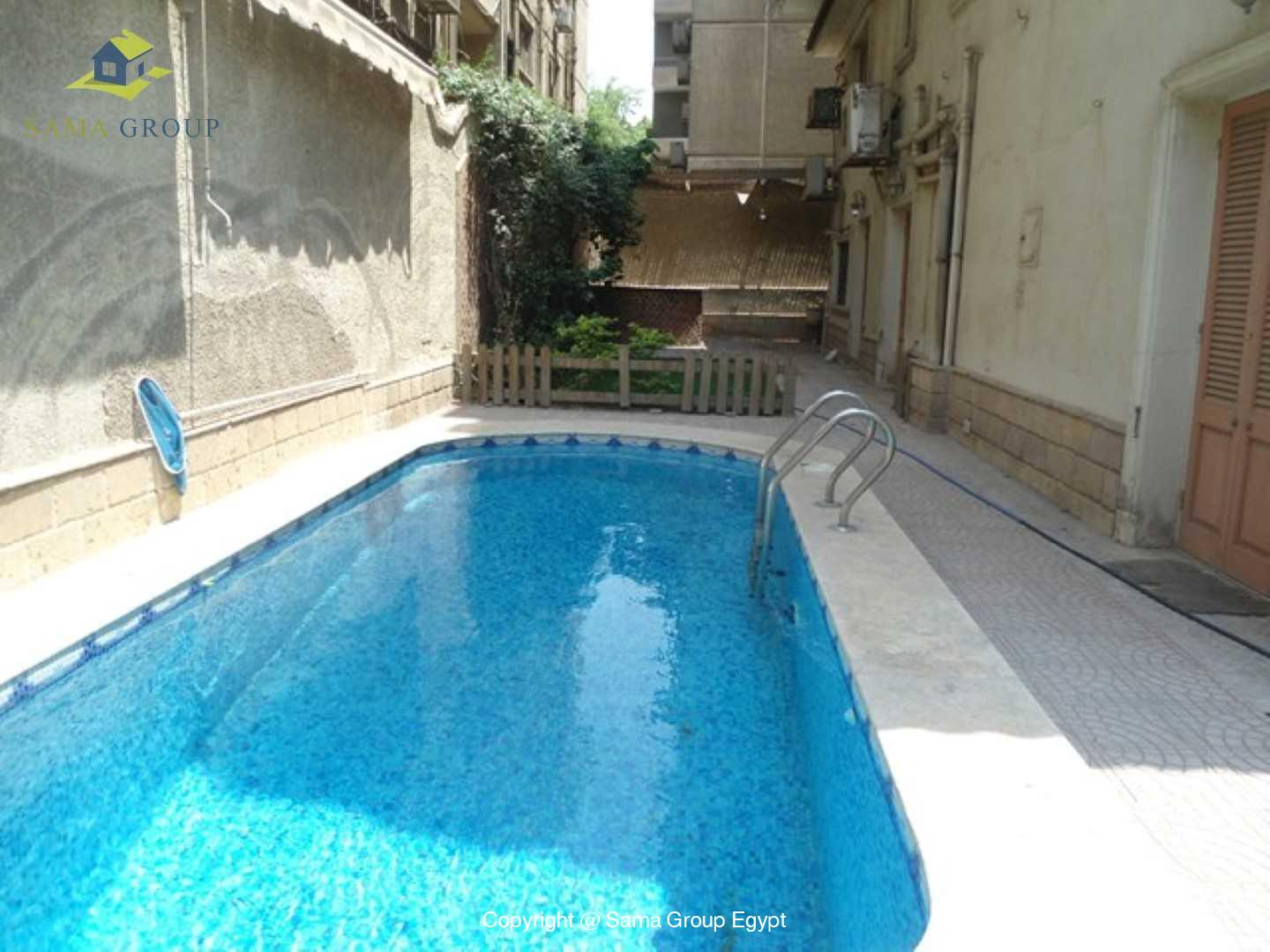 Furnished  Ground Floor Duplex With Pool For Rent In Maadi