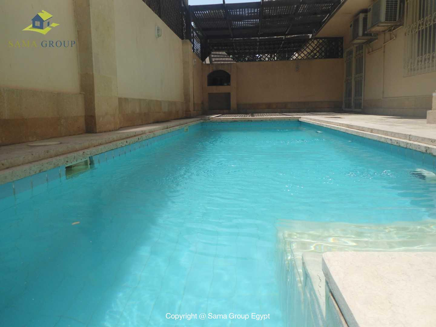 Ground Floor With Pool For Rent In Maadi Sarayat,Modern Furnished,Ground Floor NO #1