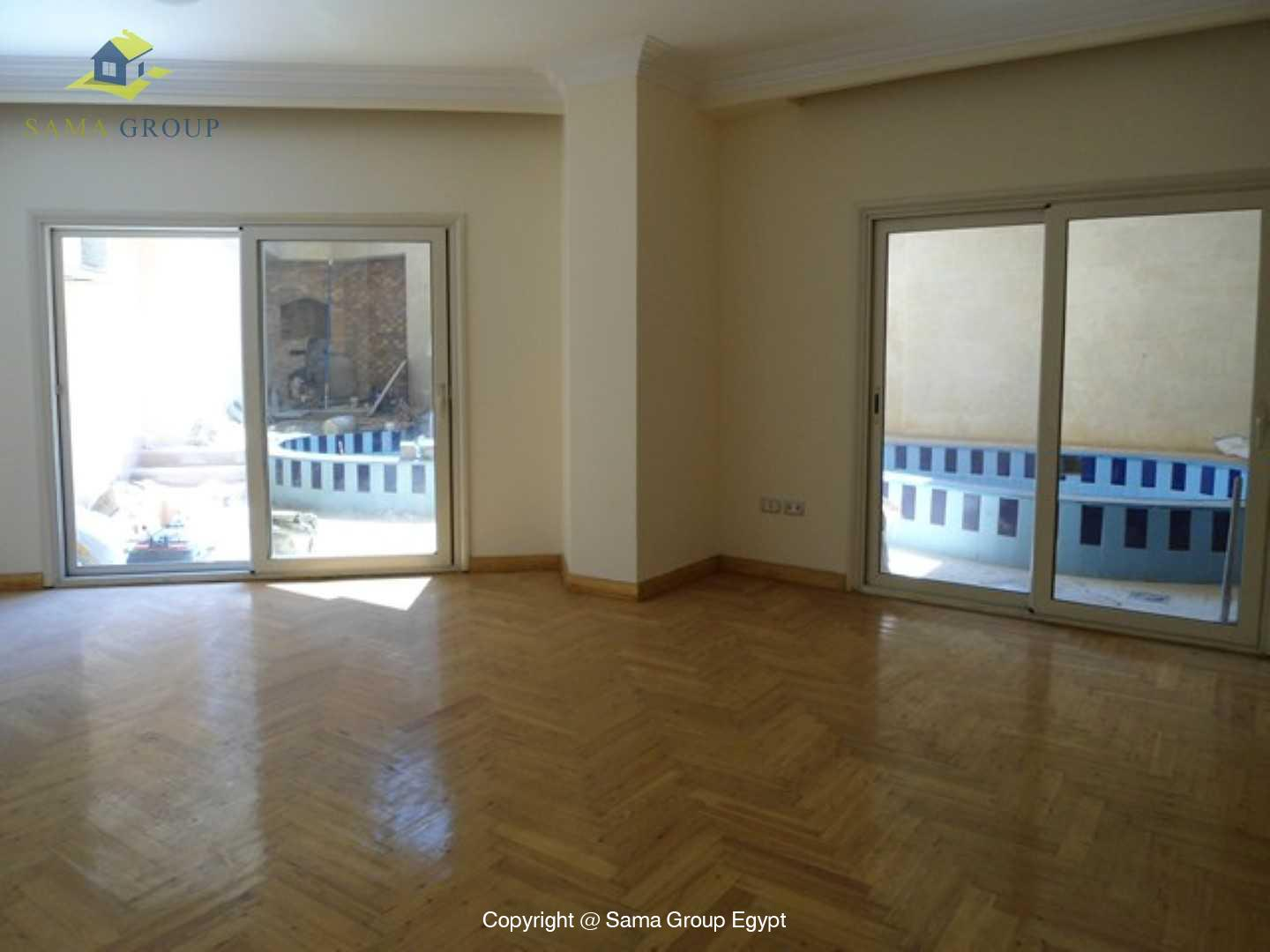 Ground Floor Duplex With Pool For Rent In Maadi Sarayat,Semi furnished,Ground Floor NO #1