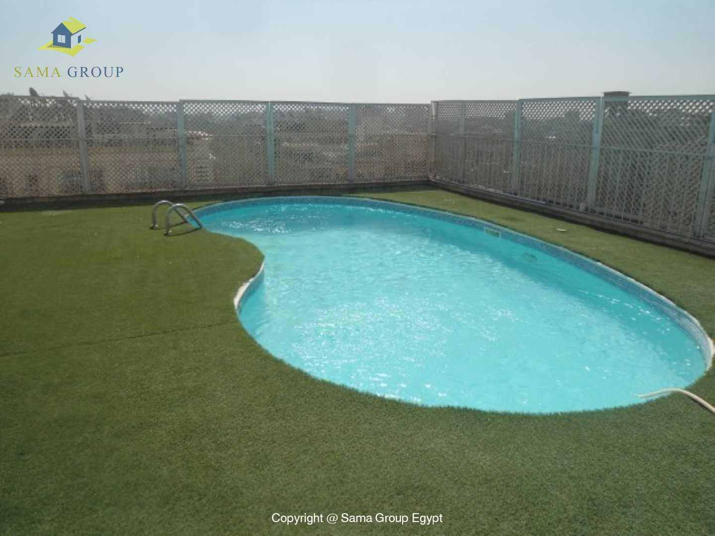 Penthouse Triplex with Swimming Pool For Rent In Maadi,Semi furnished,Penthouse NO #10