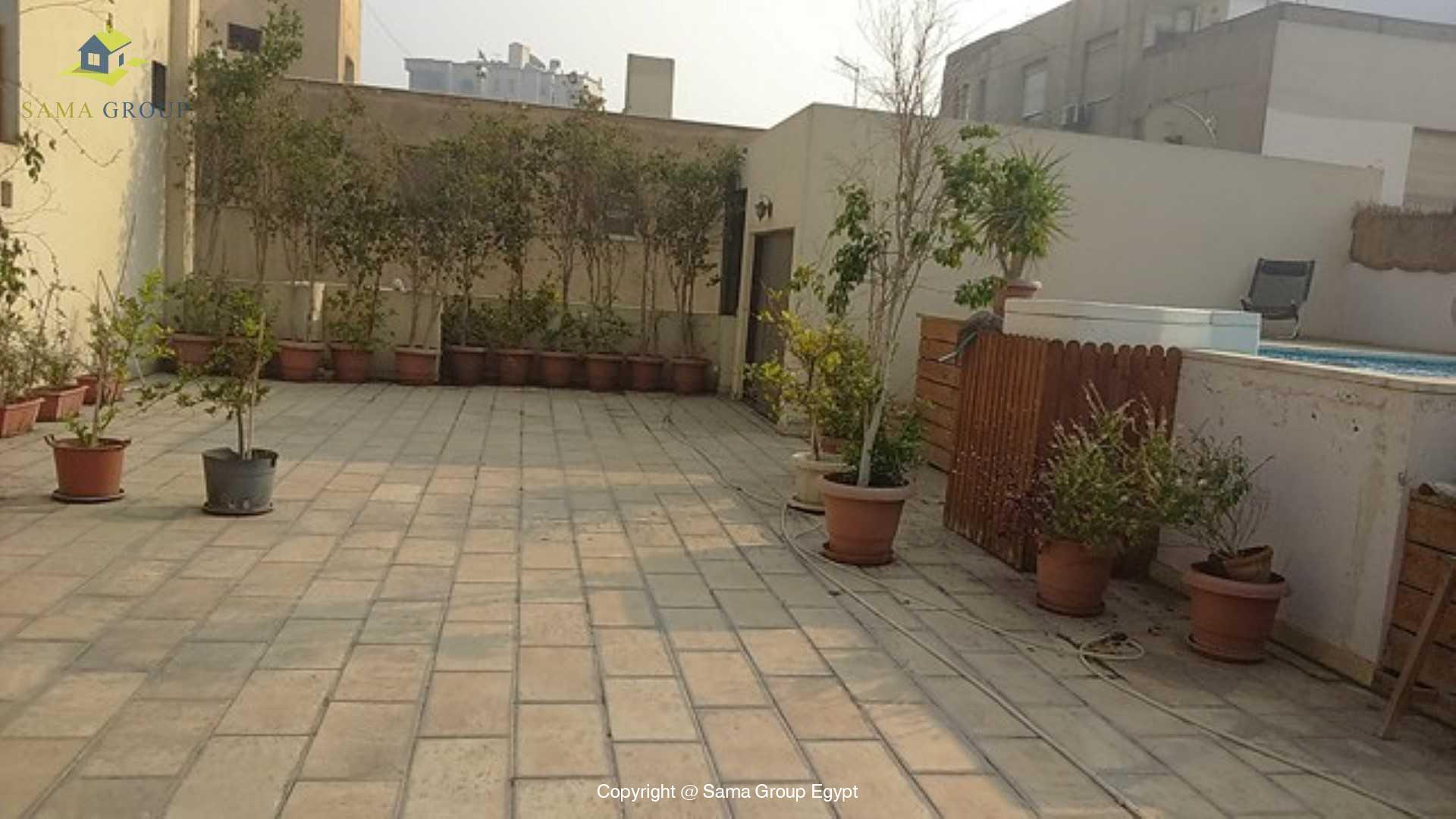 Penthouse with Swimming Pool For Rent In Maadi,Semi furnished,Penthouse NO #2
