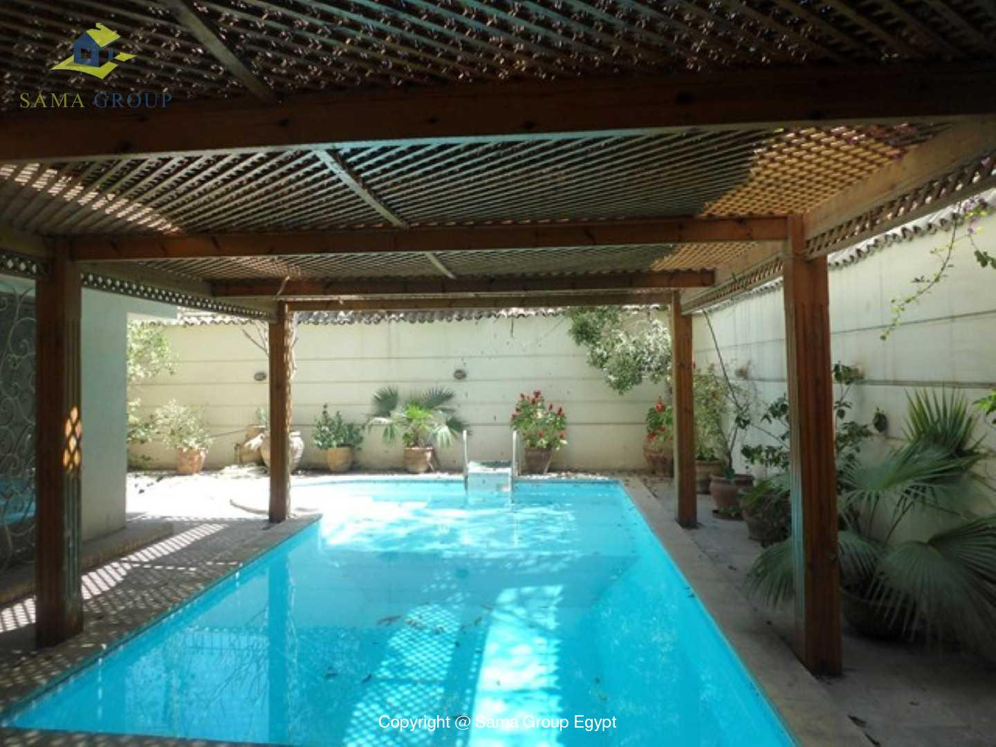 Furnished Ground Floor With Pool For Rent In Maadi