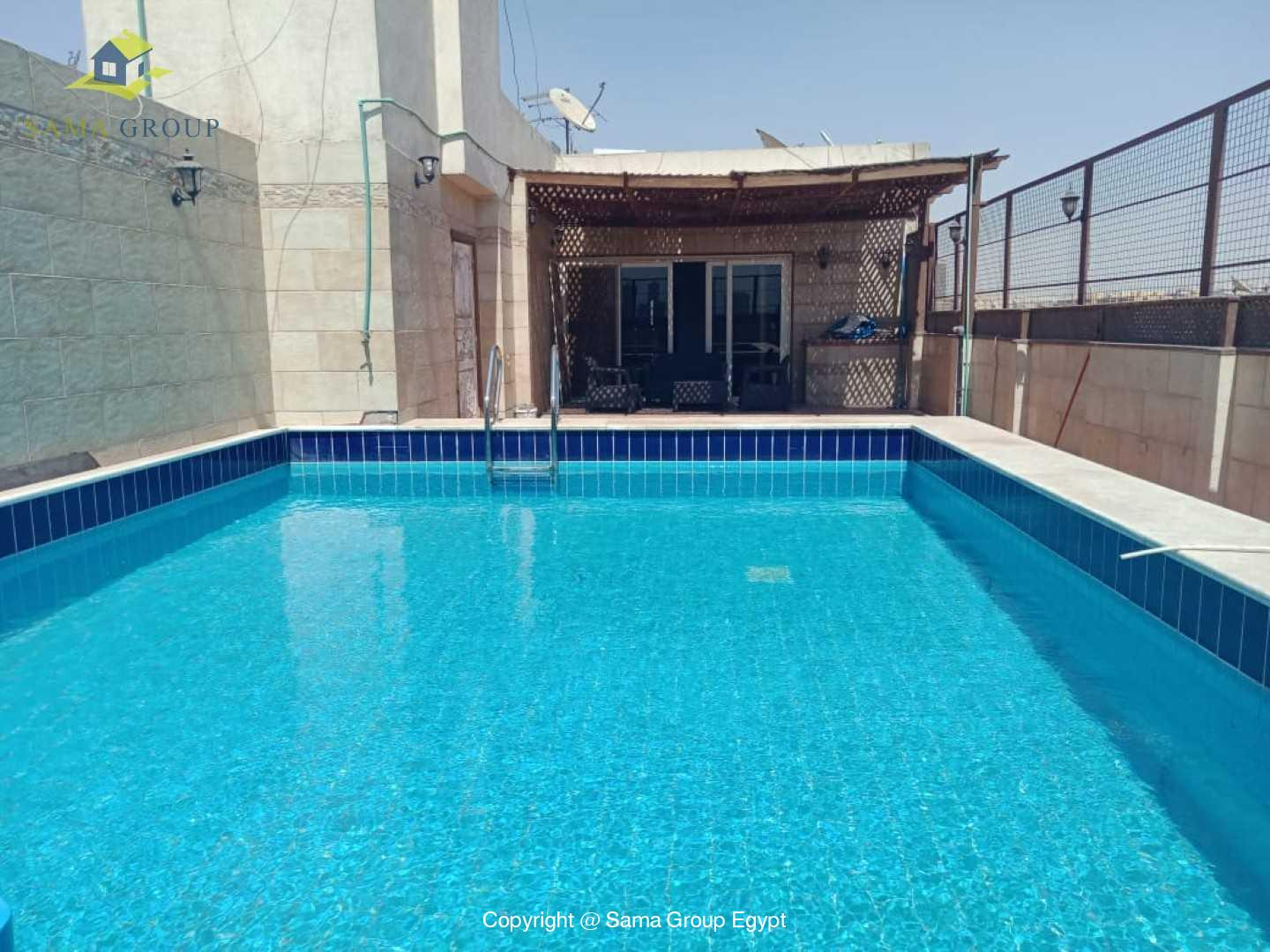 Penthouse With Pool For Rent In Maadi Degla,Modern Furnished,Penthouse NO #13