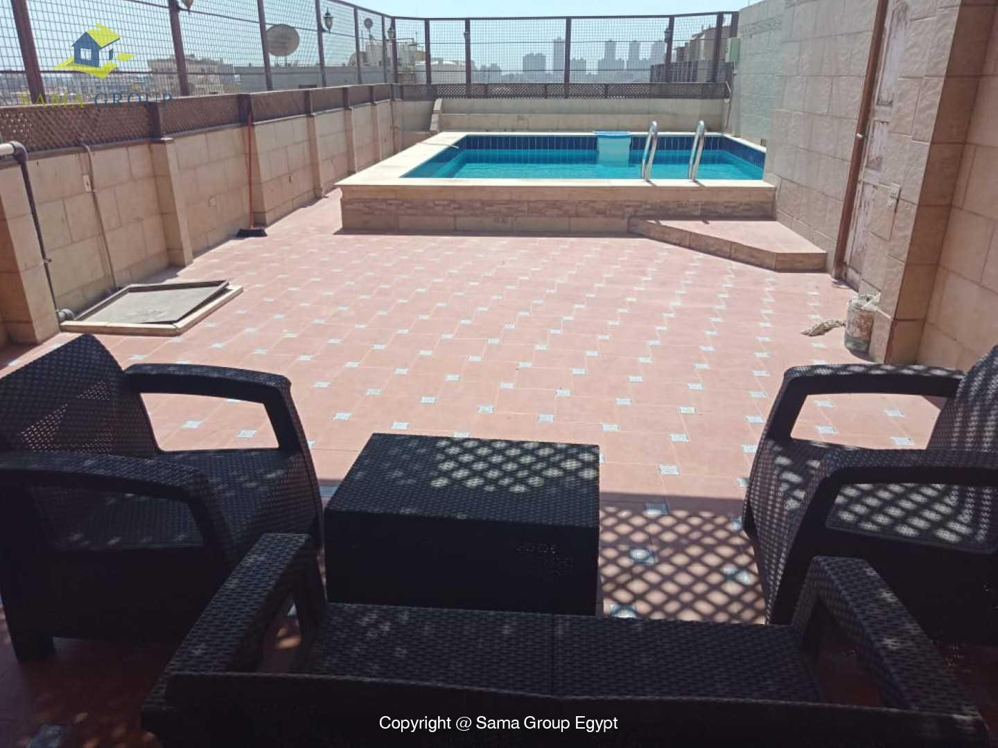 Penthouse With Pool For Rent In Maadi Degla,Modern Furnished,Penthouse NO #14
