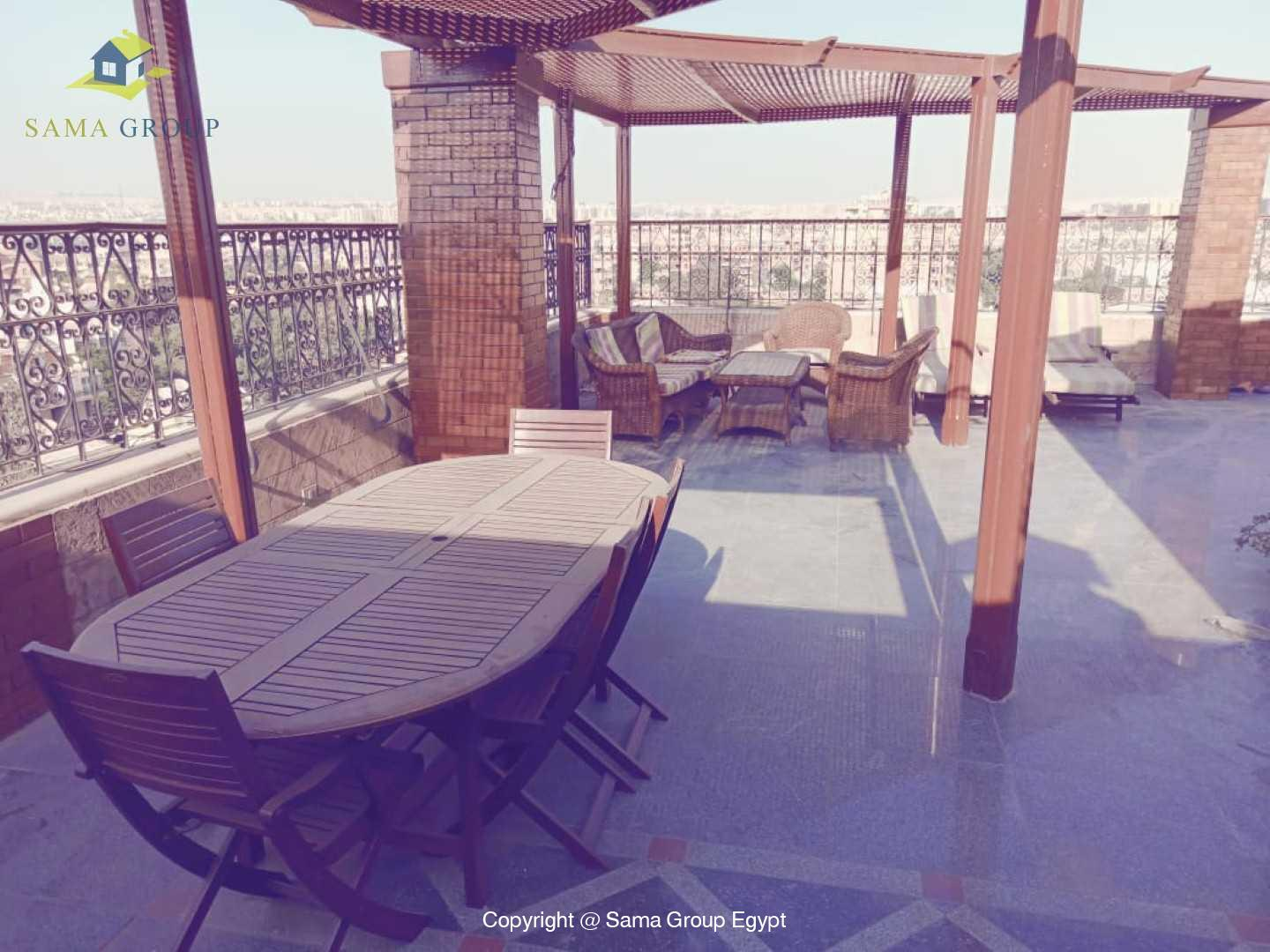 Penthouse With Pool For Rent In Maadi Degla,Semi furnished,Penthouse NO #13