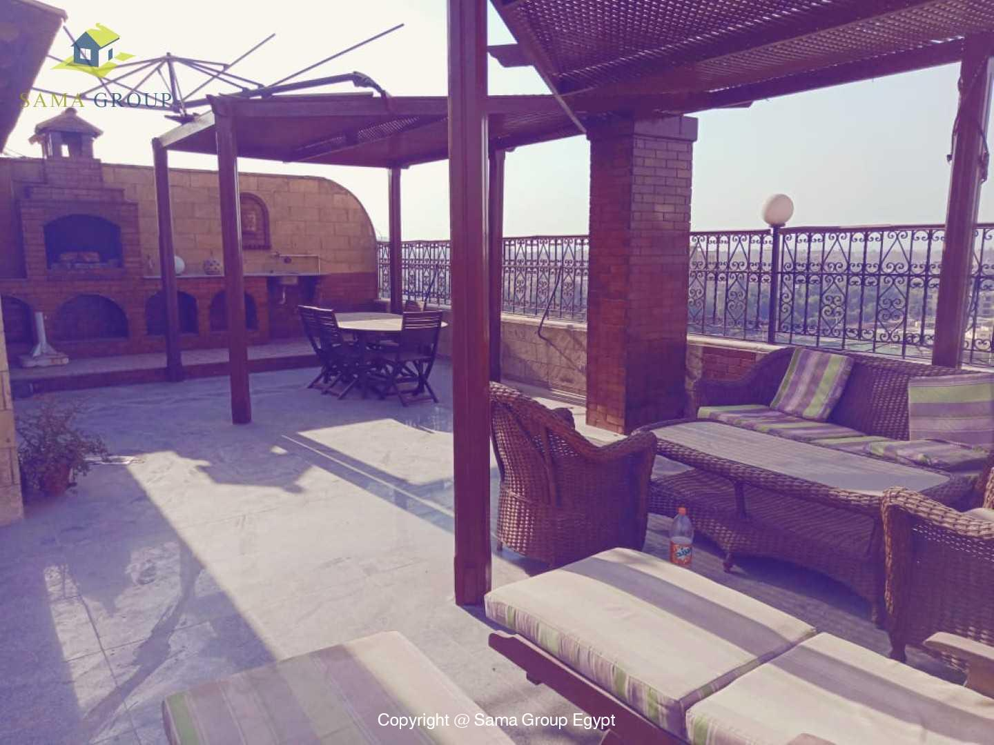 Penthouse With Pool For Rent In Maadi Degla,Semi furnished,Penthouse NO #15