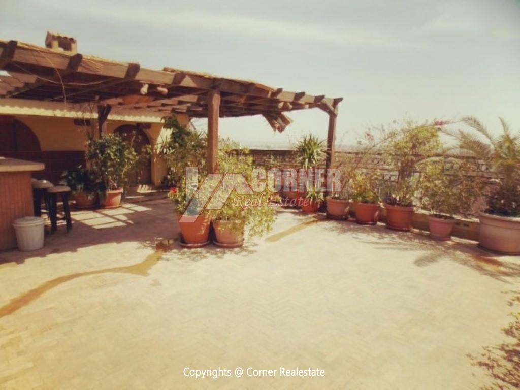 Penthouse With Swimming Pool For Rent In Maadi Sarayat,Modern Furnished,Penthouse NO #23