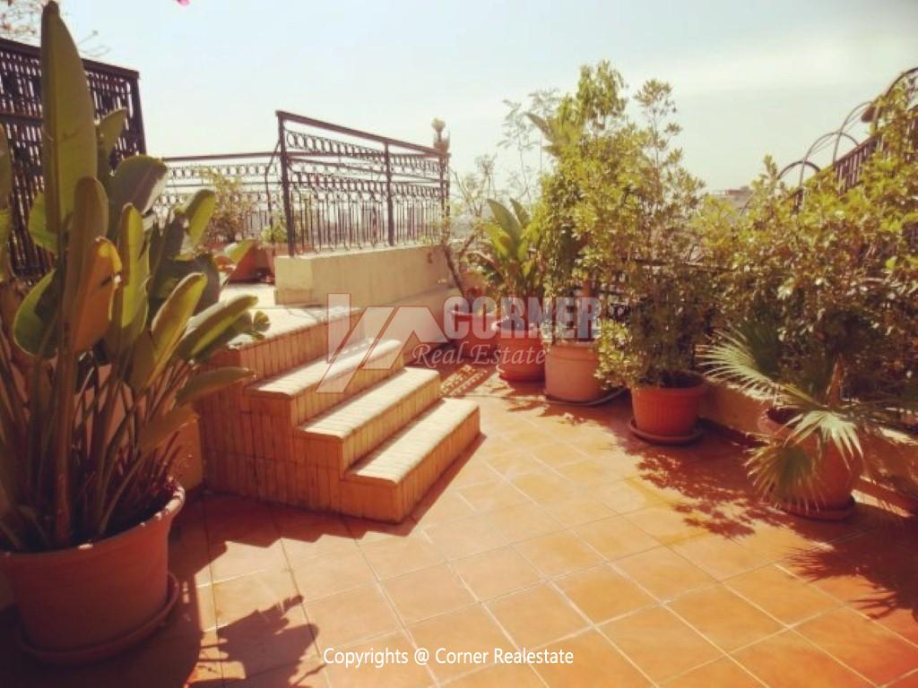Penthouse With Swimming Pool For Rent In Maadi Sarayat,Modern Furnished,Penthouse NO #24