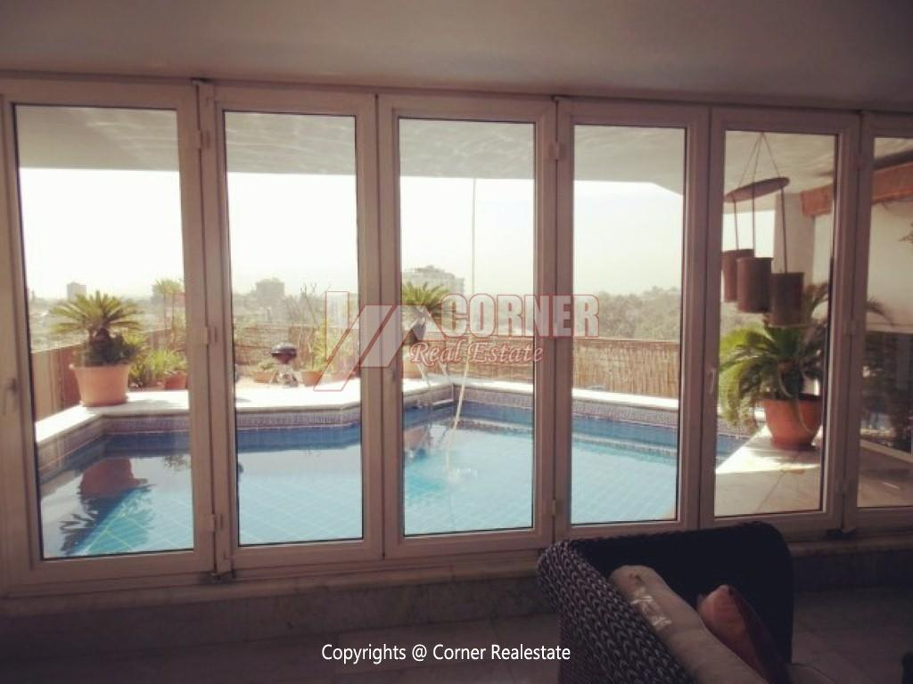 Penthouse With Swimming Pool For Rent In Maadi Sarayat,Modern Furnished,Penthouse NO #25