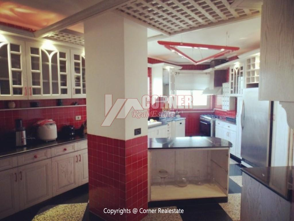 Penthouse With Swimming Pool For Rent In Maadi Sarayat,Modern Furnished,Penthouse NO #28