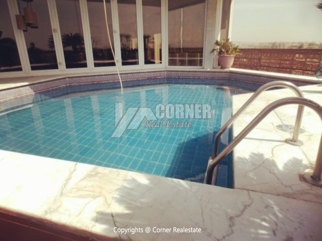 Penthouse With Swimming Pool For Rent In Maadi Sarayat,Modern Furnished,Penthouse NO #30