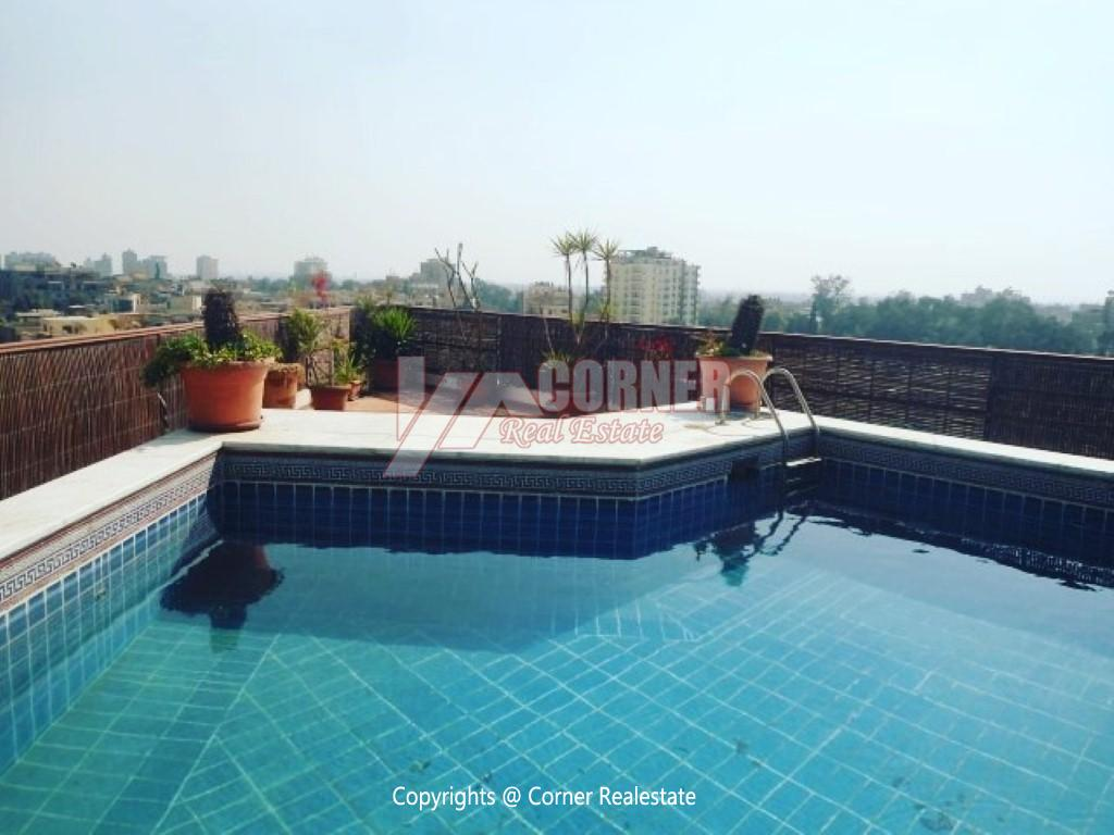 Penthouse With Swimming Pool For Rent In Maadi Sarayat,Modern Furnished,Penthouse NO #2