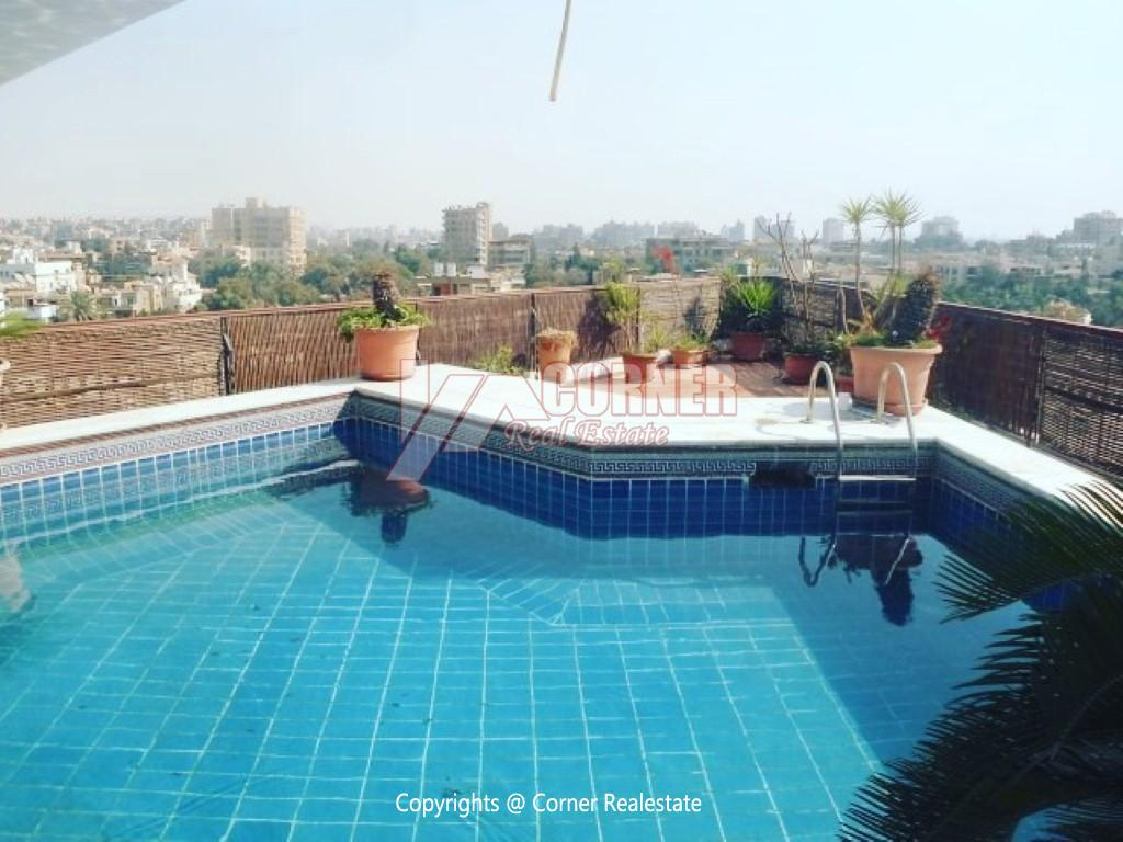 Penthouse With Swimming Pool For Rent In Maadi Sarayat,Modern Furnished,Penthouse NO #4