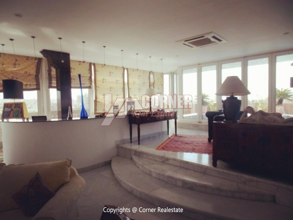 Penthouse With Swimming Pool For Rent In Maadi Sarayat,Modern Furnished,Penthouse NO #6