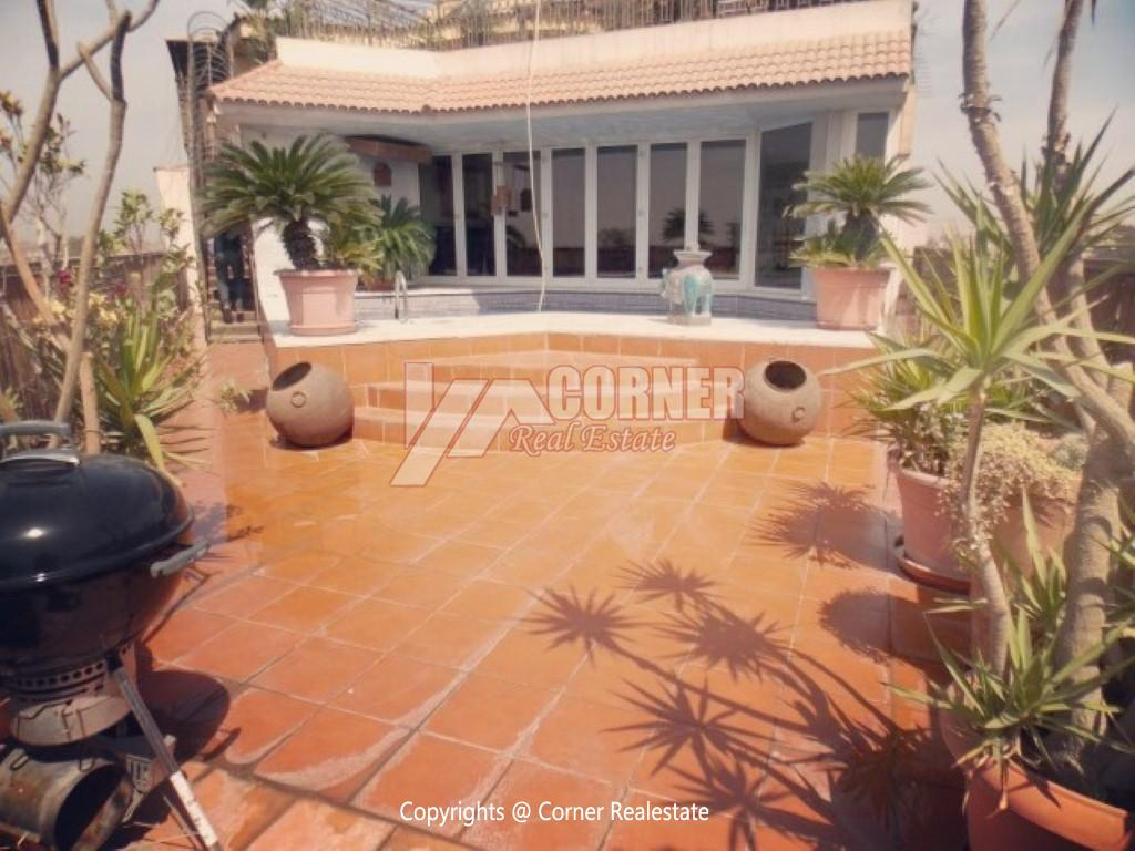 Penthouse With Swimming Pool For Rent In Maadi Sarayat,Modern Furnished,Penthouse NO #9