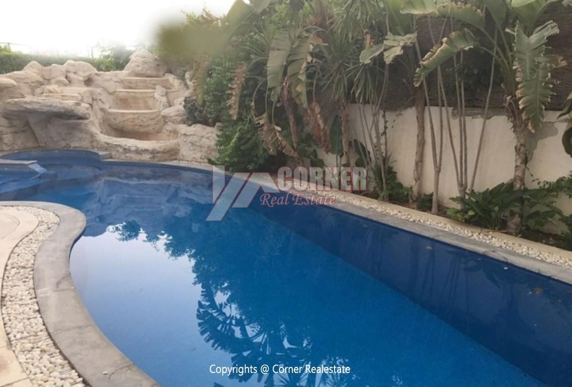 Villa With Swimming Pool For Rent In Katameya Residence,Modern Furnished,Villa NO #1