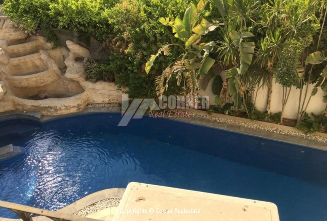 Villa With Swimming Pool For Rent In Katameya Residence,Modern Furnished,Villa NO #2