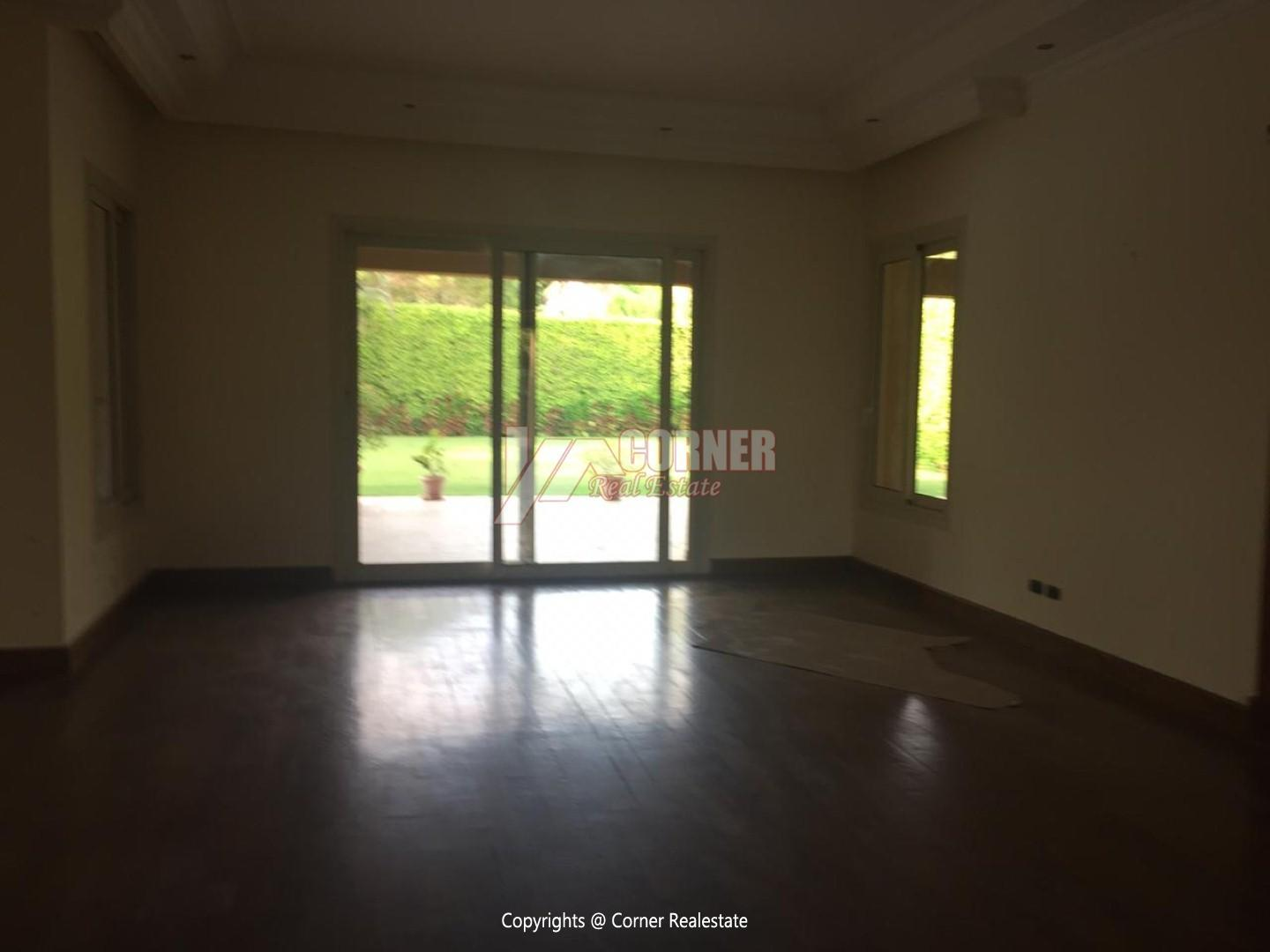 Ground Floor With Pool For Rent In Katameya Heights,Semi furnished,Ground Floor NO #13
