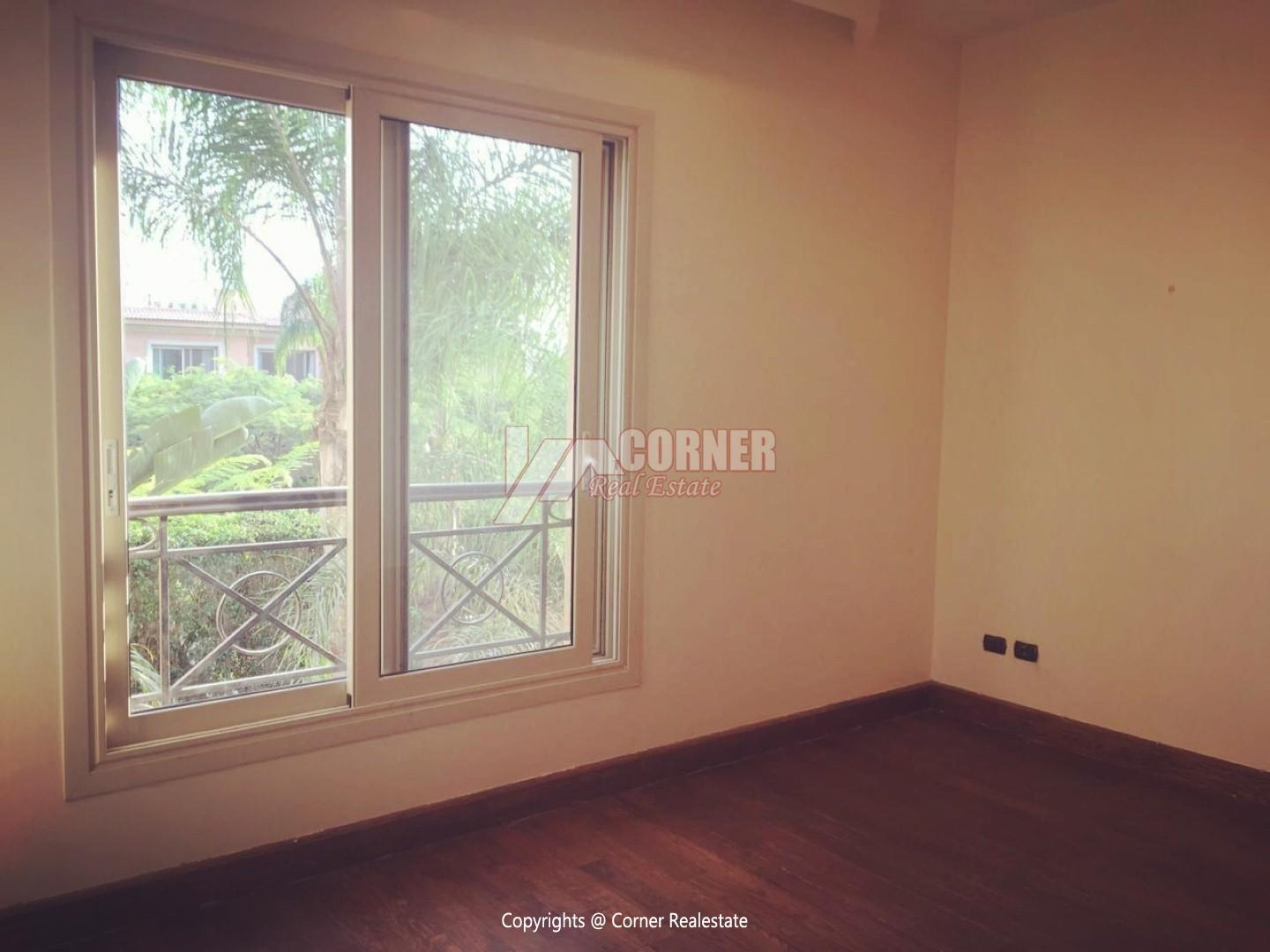 Ground Floor With Pool For Rent In Katameya Heights,Semi furnished,Ground Floor NO #19