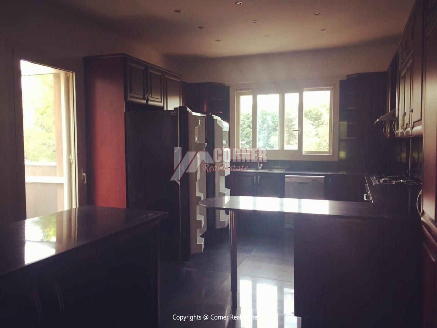 Ground Floor With Pool For Rent In Katameya Heights,Semi furnished,Ground Floor NO #3