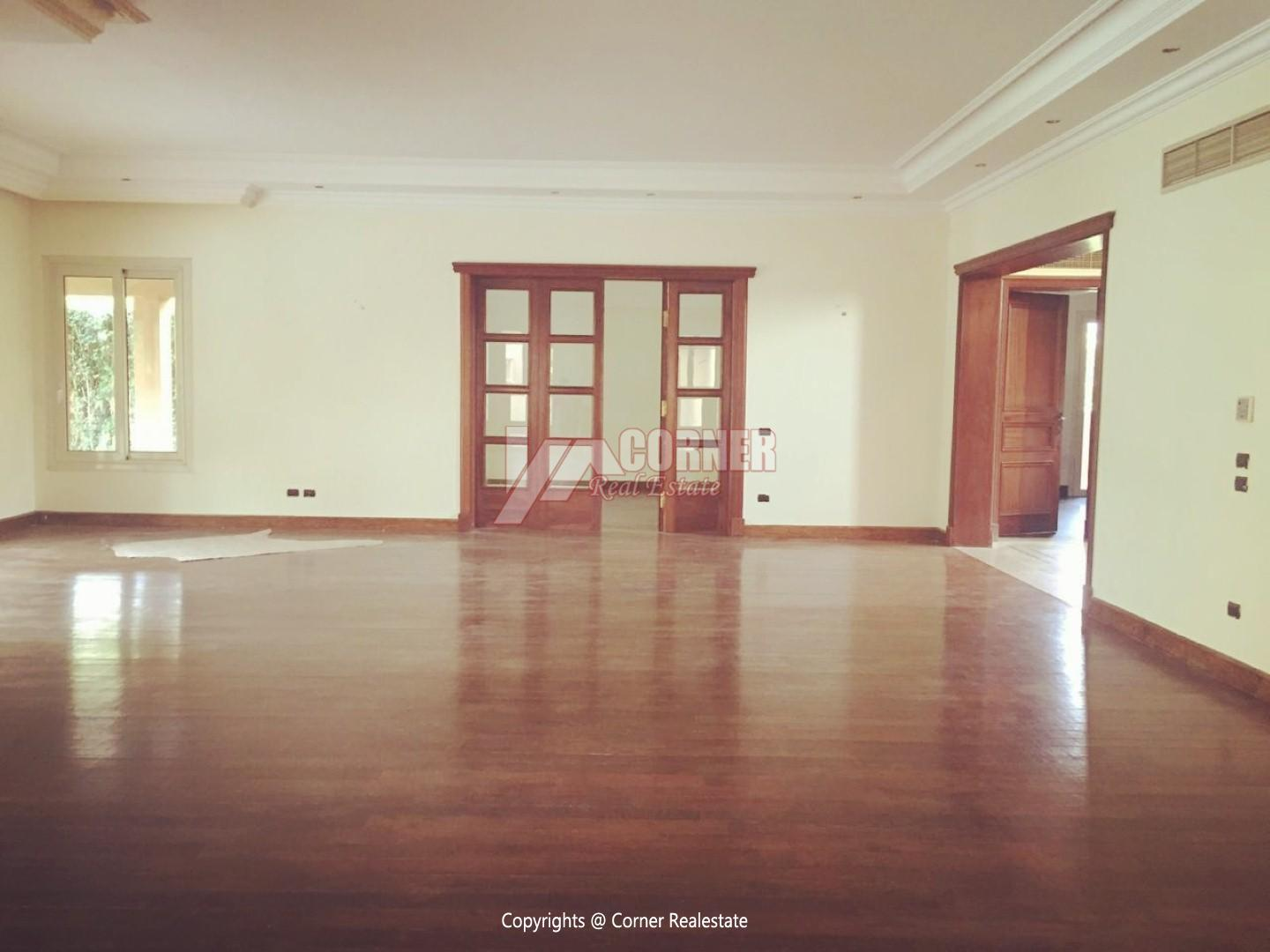 Ground Floor With Pool For Rent In Katameya Heights,Semi furnished,Ground Floor NO #6