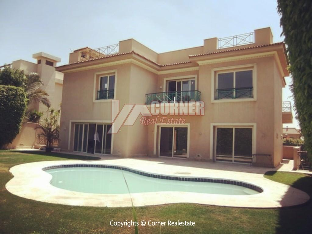 Villa With Swimming Pool For Rent In Katameya Heights,Semi furnished,Villa NO #4