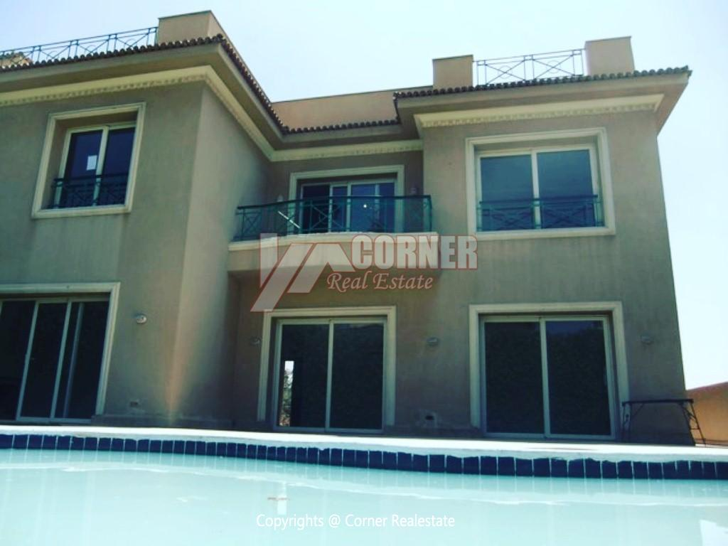 Villa With Swimming Pool For Rent In Katameya Heights,Semi furnished,Villa NO #3