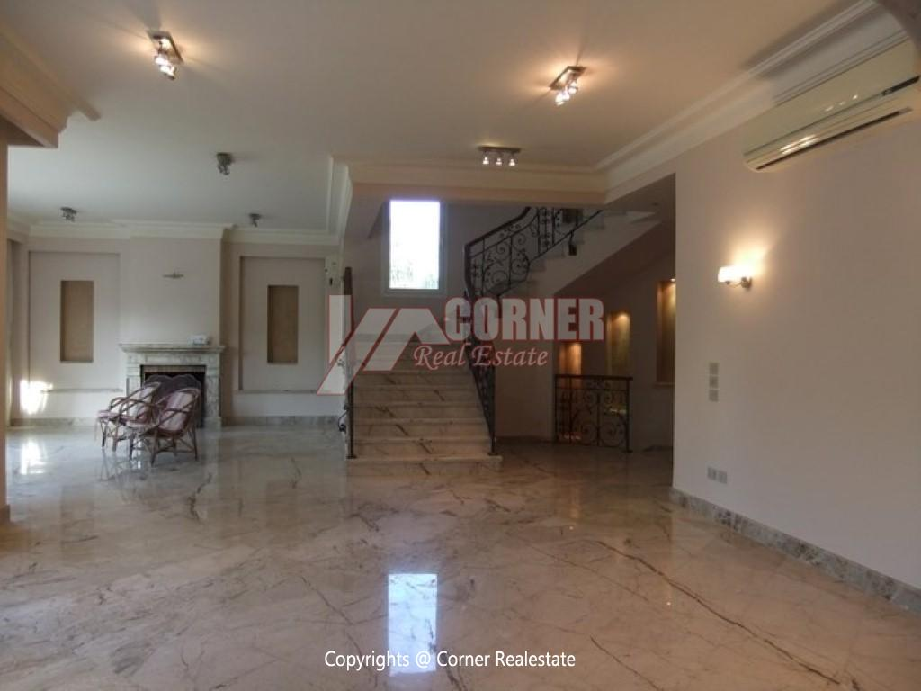 Villa With Swimming Pool For Rent In Katameya Heights,Semi furnished,Villa NO #24