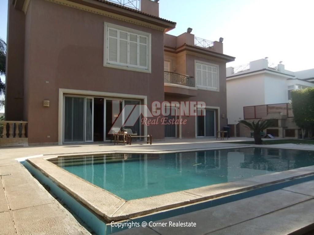 Villa With Swimming Pool For Rent In Katameya Heights,Semi furnished,Villa NO #27