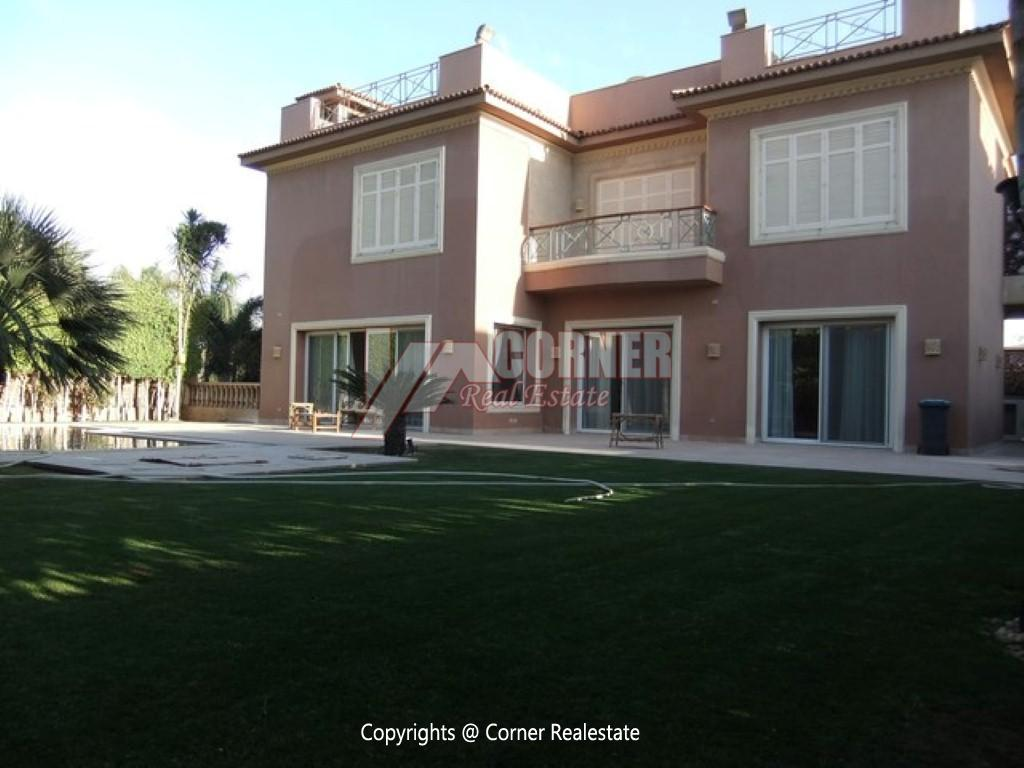 Villa With Swimming Pool For Rent In Katameya Heights,Semi furnished,Villa NO #15