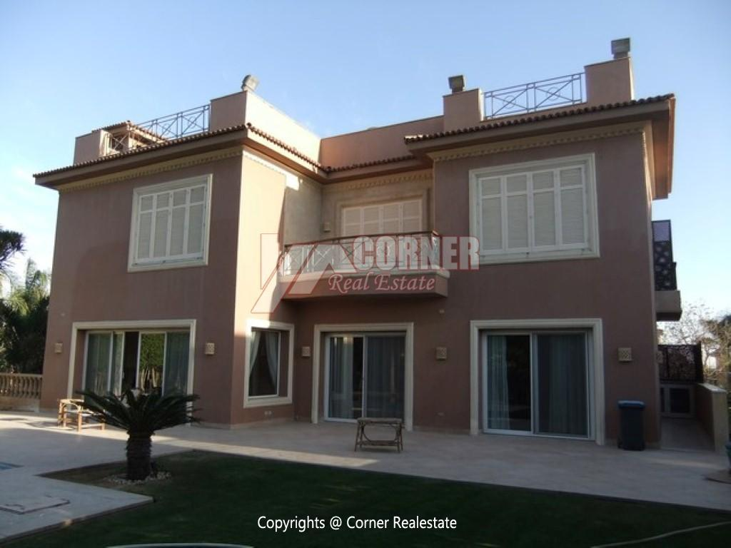 Villa With Swimming Pool For Rent In Katameya Heights,Semi furnished,Villa NO #14