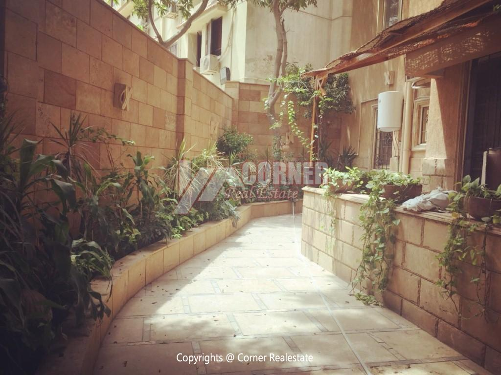 Ground Floor Duplex For Rent in Maadi,Semi furnished,Ground Floor NO #2