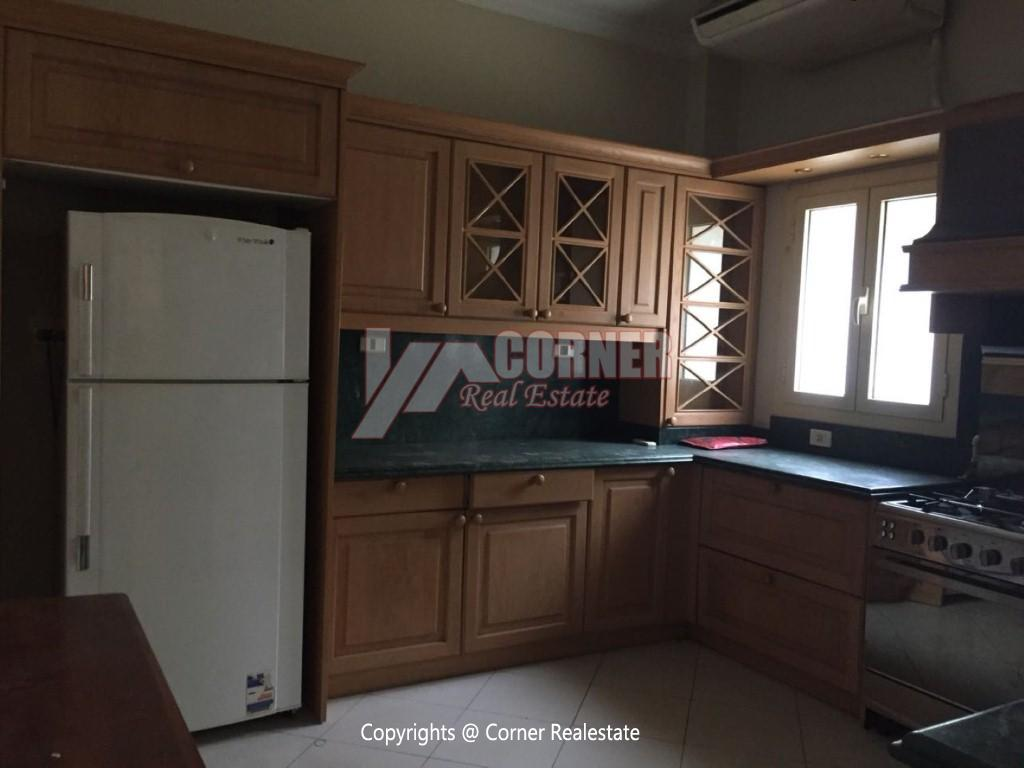 Ground Floor With Private Garden For Rent in Maadi,Semi furnished,Ground Floor NO #11