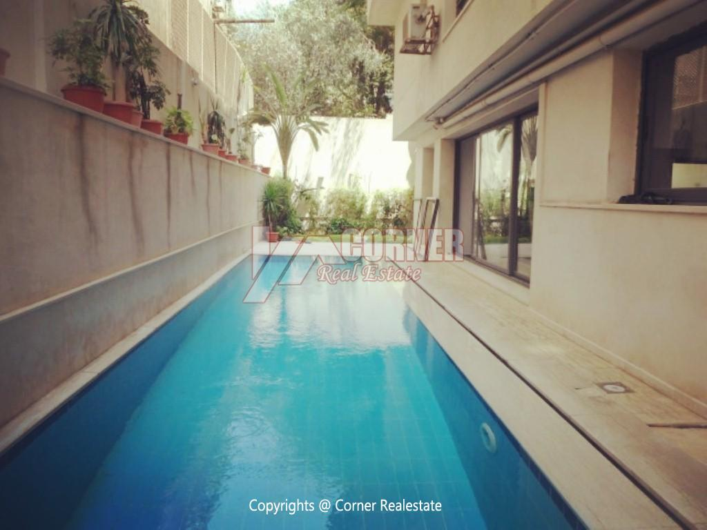 Ground Floor With Pool For Rent In Maadi ,Modern Furnished,Ground Floor NO #13
